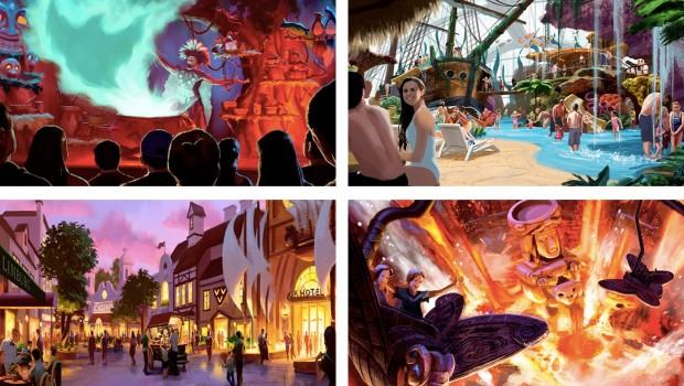 Nature Wonder World Freizeitpark Artworks Collage