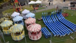Riesenrad-Restauration 2016 in Freizeitpark Schloss Beck: Familien-Attraktion außer Betrieb