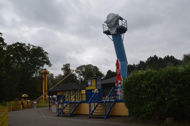 Grundgerüst von Riesenrad in Schloss Beck 2016