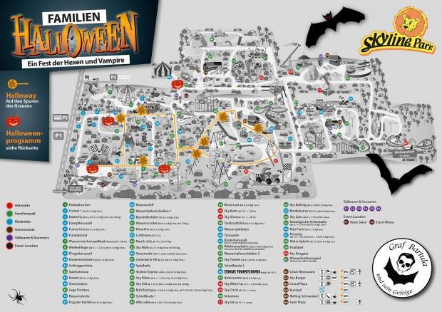 Skyline Park Parkplan zu Halloween 2016