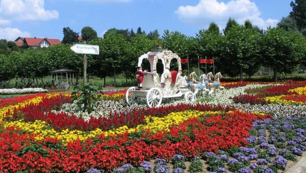 Churpfalzpark Kutsche Blumenbeet 2017