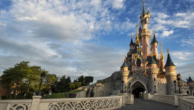 Disneyland Paris Schloss ohne Besucher