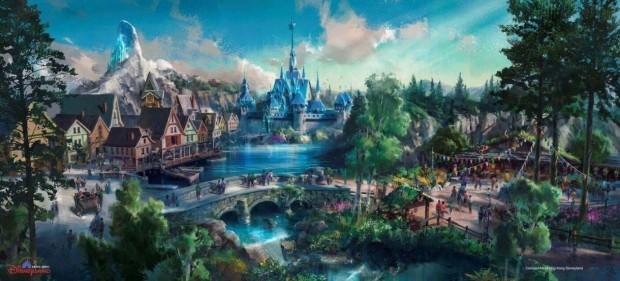 Hong Kong Disneyland 2023 - Frozen Artwork