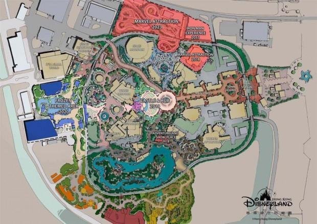 Hong Kong Disneyland 2023 Masterplan - Übersicht