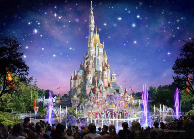 Hong Kong Disneyland Castle 2019 Artwork
