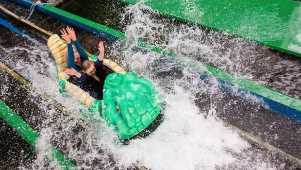 Wildwasserbahn in Kids Dinoworld