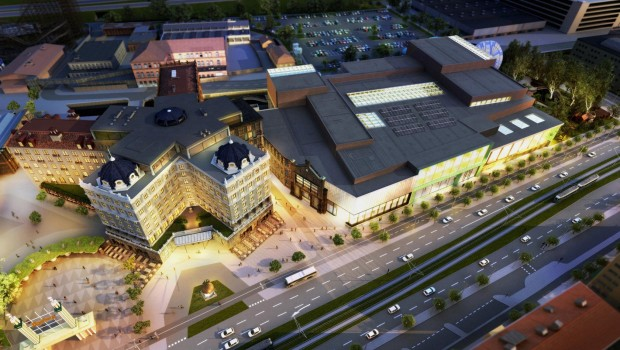 Liseberg - Hotel und Wasserpark - Artwork Luftaufnahme