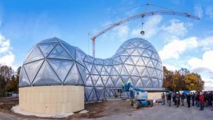 """Saurierpark Kleinwelka feiert Richtfest bei """"Mitoseum"""": Neuer Eingangsbereich ab 2017"""