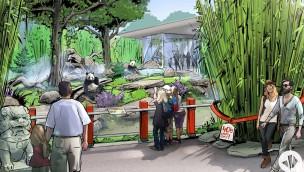 Panda-Anlage Zoo Berlin Ansicht Aussen Konzept