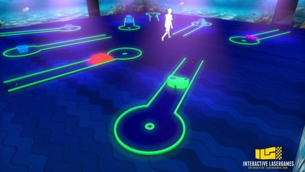 Schwarzlicht-Minigolf Interactive Lasergames