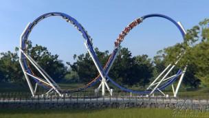 """Skyline Attractions stellt """"Skywarp"""" vor: Konzept für kompakte Doppellooping-Attraktion"""