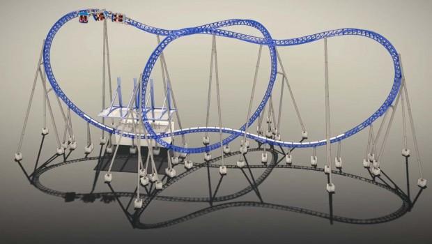 Xtreme Spinning Coaster MACK Rides Konzept Layout