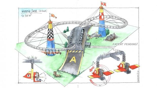 Air Roller Konzeptzeichnung - Ride Engineers Switzerland