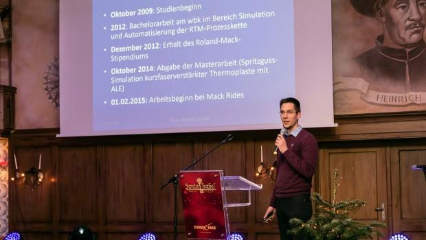 Andreas Schaaf, Mack Rides, Vortrag Stipendium