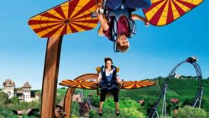 Erlebnispark Tripsdrill lässt 2017 abheben: Neuheit wird ein Sky Fly-Fahrgeschäft