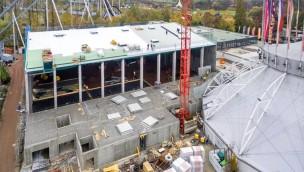 Europa-Park Arena Baustelle Dezember 2016