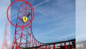 Ferrari Land Achterbahn 270 Grad Drehung Titel