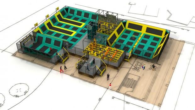 FORT FUN Abenteuerland Arena - Entwurf