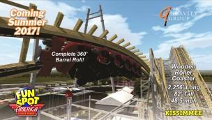Fun Spot America in Kissimmee kündigt Holzachterbahn als Neuheit 2017 an
