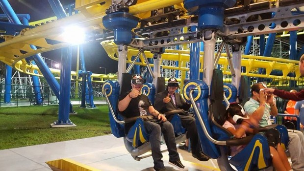 Fun Spot America Orlando Freedom Flyer Virtual Reality Test IAAPA