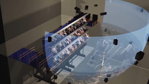 Futuroscope Flying Theater Aufbau