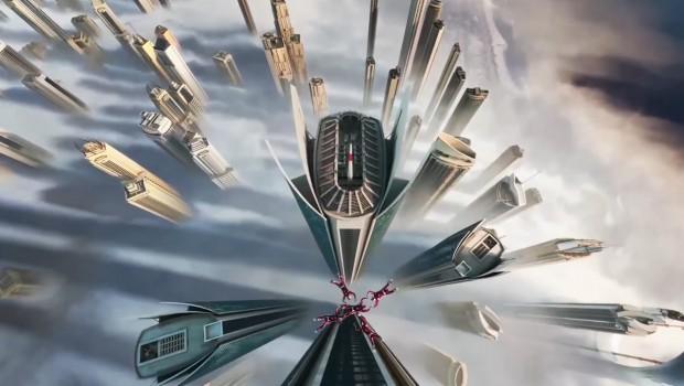Futuroscope Flying Theater - Falschirmsprung-Szene