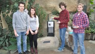 Handy-Sammelbox im Zoo Rostock