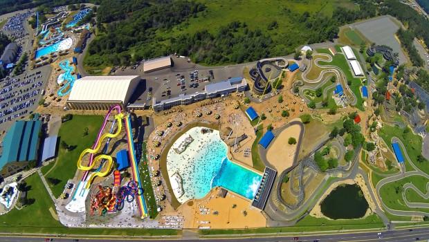 Mt Olympus Wasserpark Freizeitpark Luftaufnahme