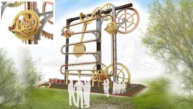 RES Roller Ball Ride Engineers Switzerland Murmelbahn Rendering