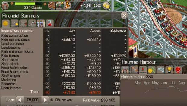RollerCoaster Tycoon Classic Screenshot
