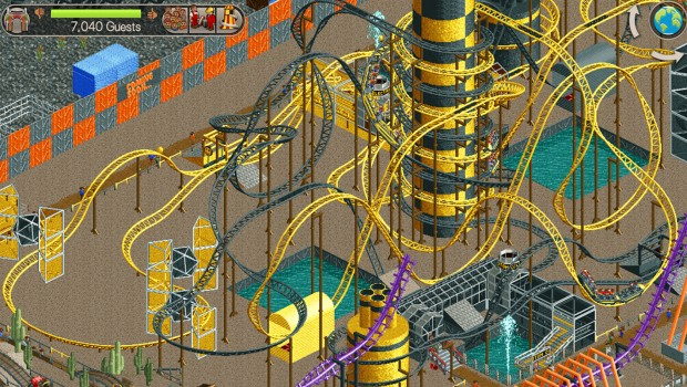 RollerCoaster Tycoon iOS Android Achterbahn Spiel