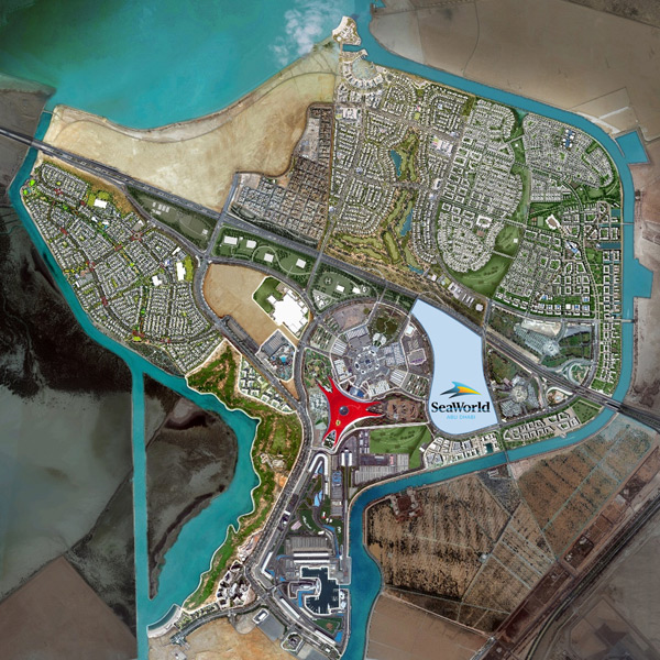 SeaWorld Yas Island Location Map