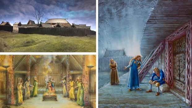 Vikingaliv Wikinger-Themenfahrt Schweden - Illustrationen