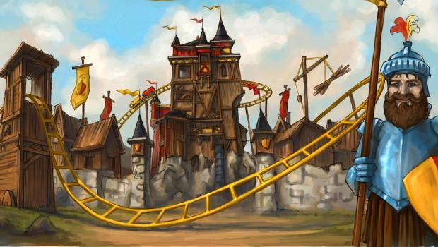 Achterbahn Schloss Dankern Artwork