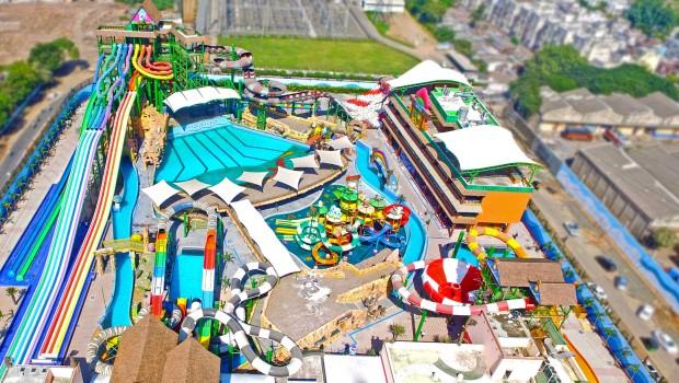 Amaazia Wasserpark in Indien - Luftaufnahme