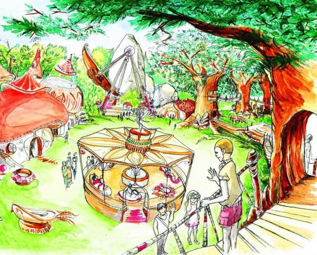 Avalonys Freizeitpark Frankreich Attraktionen Konzept