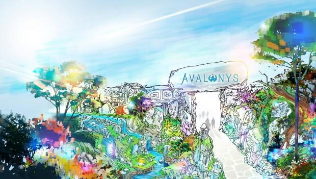 Avalonys Themenpark Frankreich Konzepgrafik