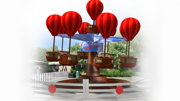 Drayton Manor 2017 - James and the Red Ballon Artwork