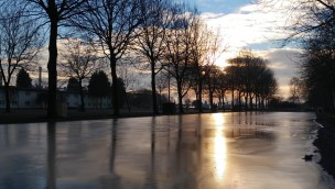 Eislaufbahn am Wunderland Kalkar Parkplatz