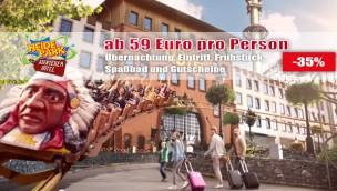 Abenteuerhotel Heide Park: Übernachtung mit Frühstück und Parkeintritt ab 59 € p.P. bei Reise zu viert