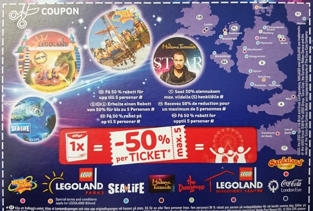 Kellogg's Coupon - Theme Parks 2017