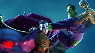 """Le Pal-Freizeitpark in Frankreich zeigt 2017 neuen Film """"Happy Family"""" im 3D-Kino"""