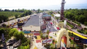 Movieland Park Italien, Eingang, Luftaufnahme