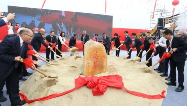 Nickelodeon Freizeitpark Foshan China Baubeginn