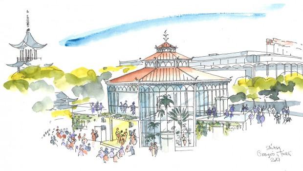 Orangeriet in Tivoli Kopenhagen - Konzeptzeichnung