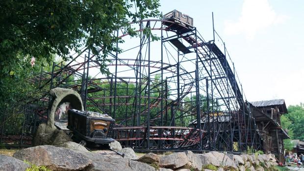 Silver Mine-Achterbahn im Freizeitpark Plohn