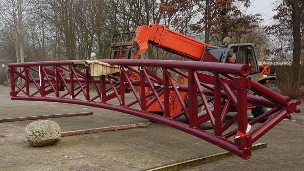 Slagahren Achterbahn Schienen Ankunft Gabelstabler