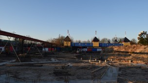 """Baustelle von """"Gold Rush"""" in Slagharen (Ende Dezember 2016)"""