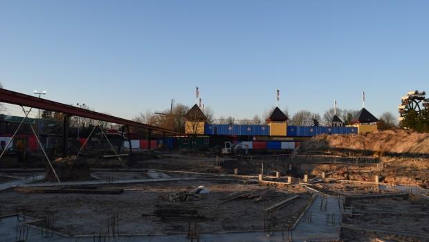 Baustelle von Gold Rush in Slagharen (Ende Dezember 2016)