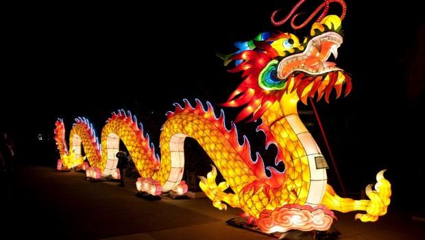 Allwetterzoo Münster - Drache - Chinesische Lichter